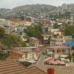 Vy över stadsdel. Valparaiso