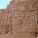 Väggrelief i templet. Karnak (U)