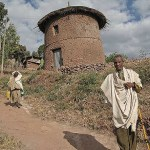 Traditionellt hus. Lalibela