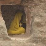 Mediterande munk. Lalibela