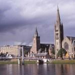 Vy över staden. Inverness