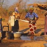Vattenpumpen i byn Auchubunyor