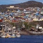 Vy över staden Qaqortoq