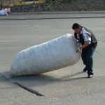 Man med stor säck. Tegucigalpa