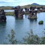Lavapelare. Sjön Myvatn