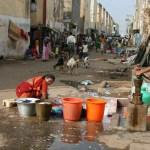 Tvätt på gatan. Chennai
