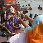 Religiös ceremoni. Haridwar