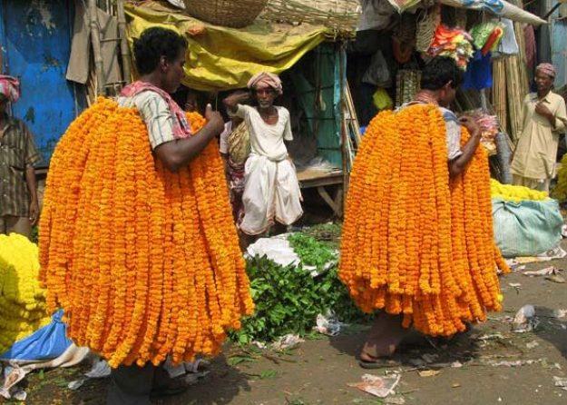 Blomsterbärare. Kolkata