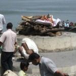 Likbål. Varanasi