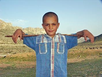 Ung nomadisk fåraherde. Firuz Abad