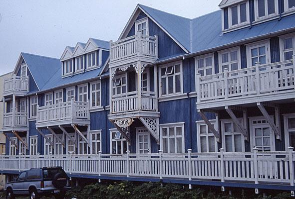 Gammalt trähus. Reykjavik
