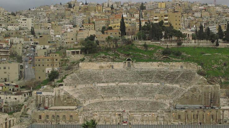 Romerska teatern. Amman
