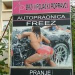 Reklam för biltvätt! Zagreb