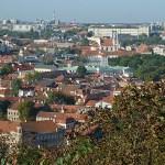 Vy över Gamla Stan. Vilnius