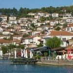 Vy över gamla staden. Ohrid (U)