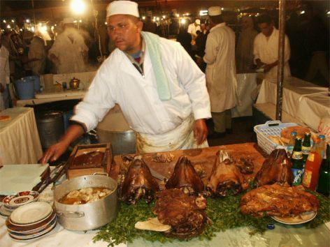 Matmarknaden på Djema el-Fna. Marrakech