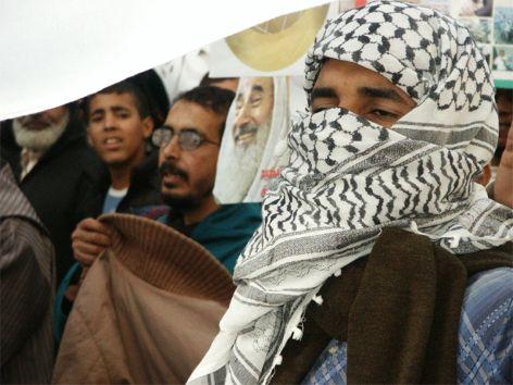 Demonstration mot USA och Israel. Rabat