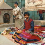 Tygförsäljare. Kathmandu
