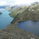 Vy över Besseggen. Jotunheimen Nasjonalpark