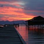 Solnedgång. Cendrawashi