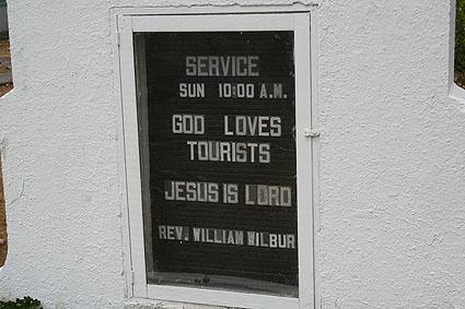 """""""Gud älskar turister"""". Gamboa"""