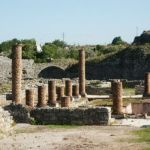 Romerska ruiner. Conimbriga