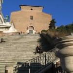 Aracoeli-trappan och kyrkan Santa Maria in Aracoeli. Capitolium (U)