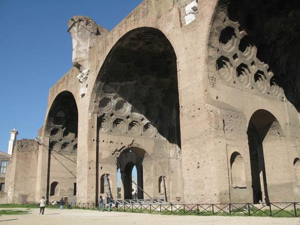 Konstantins och Maxentius basilika. Forum. Rom. Italien (U)