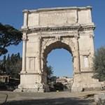 Titus Triumfbåge. Forum. Rom. Italien (U)