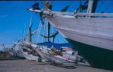 Pinisis, segelfartyg. Ujung Pandang
