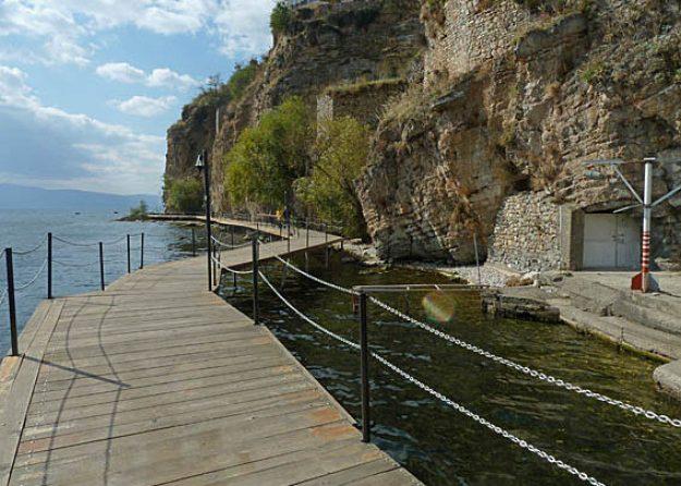 Strandpromenad. Ohrid