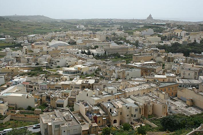 Vy över Victoria. Gozo