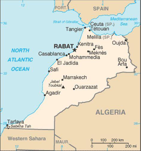 Marocko Landsfakta Folkmangd Folkgrupper Bnp Karta Mm Stalvik Se