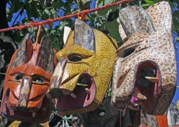 Jaguarmasker. San Cristobal de las Casas