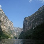 Vy över kanjonen Sumidero