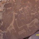 Hällristningar. Twyfelfontein. Namibia (U)
