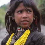 Thakuri flicka. Humla Valley. Nepal