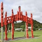 Maoriskulptur. Bay of Islands