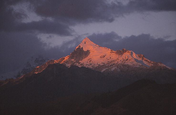 Solnedgång över Cordillera Blanca (U)