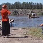 Färja över Jenetseifloden