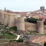 Stadsmuren. Avila. Spanien