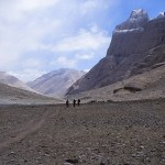 Starten på Kailash khora. Tarboche