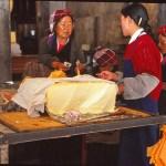 Försäljning av smör. Lhasa