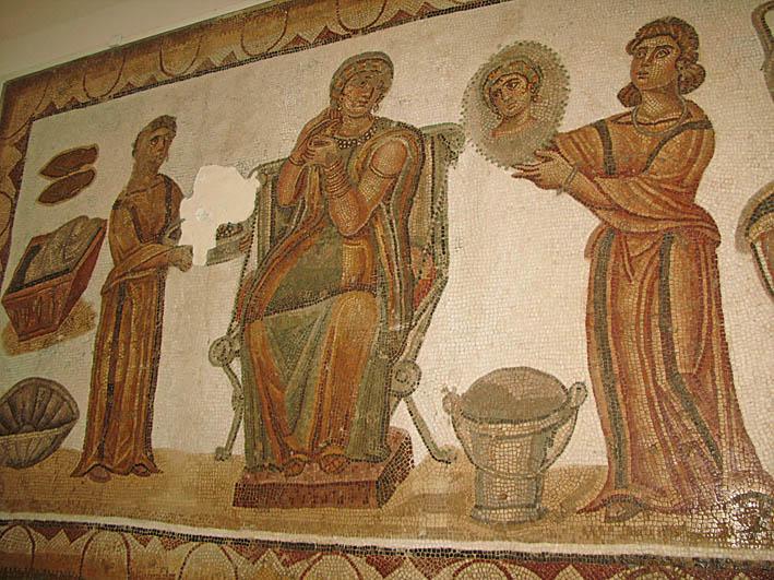 Romersk mosaik. Kartago (U)