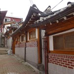 Gamla hus. Bukchon Hanok. Seoul