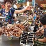 Kwang Jang marknaden. Seoul