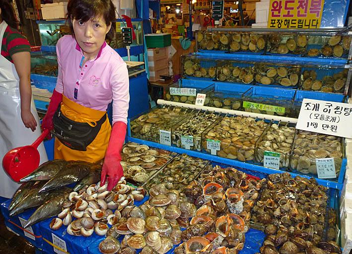 Fiskmarknaden Noryangjin. Seoul