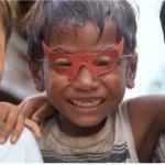 Barn i slummen. Phnom Penh