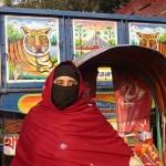 Kvinna och tiger. Dhaka