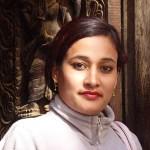 Nepalesisk skönhet. Bhaktapur